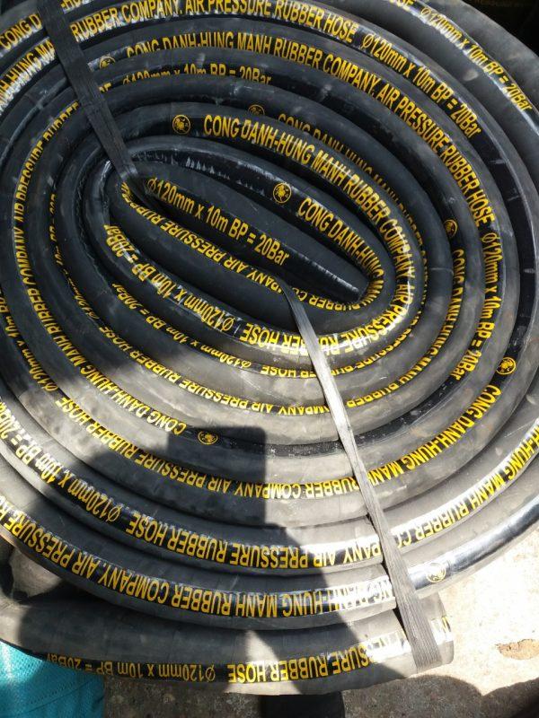 ống cao su bố vải phi 120